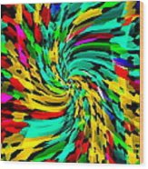 Designer Phone Case Art Colorful Rich And Bold Abstracts Cell Phone Covers Carole Spandau Cbs Art136 Wood Print by Carole Spandau