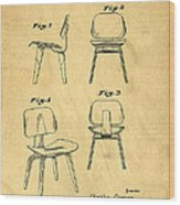 Designs For A Eames Chair Wood Print by Edward Fielding