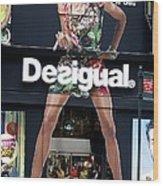 Desigual Storefront Wood Print