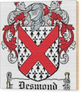 Desmond Coat Of Arms Irish Wood Print