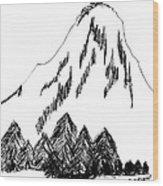 Desolation Peak_alone Time Wood Print