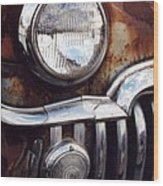 Desoto Headlight Wood Print