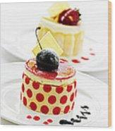 Desserts Wood Print