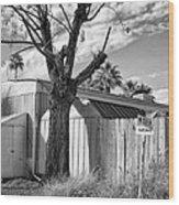 Destination Saturn Palm Springs Wood Print