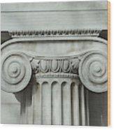 Detail an ionic column Wood Print