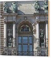 Detail City Hall Hamburg II Wood Print