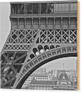Detail Eiffel Tower Wood Print