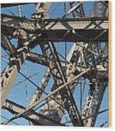 Detail Of Ferris Wheel At Vienna Prater Wood Print