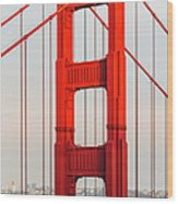 Detail Of Golden Gate Bridge, San Wood Print