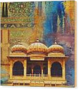 Detail Of Mohatta Palace Wood Print