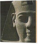 Detail Of Pharaoh Head At Entrance Wood Print