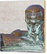 Detail Of Sculpture Wood Print by Borislav Marinic