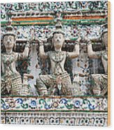 Detail Of Temple, Thailand Wood Print