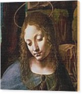 Detail Of The Head Of The Virgin Wood Print