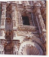 Detail Of The National Cathedral Of Guatemala Wood Print