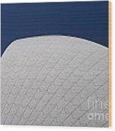 Detail Of Tiles On Sydney Opera House Wood Print