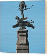 Detailed Images Of Statues In Almaty Wood Print