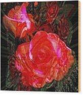 Detailed Roses Wood Print