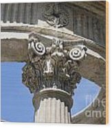 Detailed View Of Corinthian Order Column Wood Print