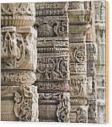 Details Of The Columns In The Qutab Wood Print