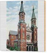 Detroit - St Mary Catholic Church - Monroe Avenue - 1910 Wood Print