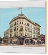 Detroit - The Cadillac Hotel - Cadillac Boulevard And Michigan Avenue - 1918 Wood Print