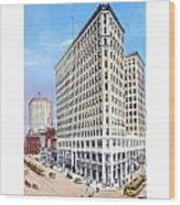 Detroit - The Lafayette Building - Michigan Avenue Lafayette And Shelby Streets - 1924 Wood Print
