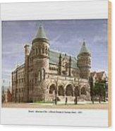 Detroit - The Museum Of Art - Jefferson Avenue At Hastings Street - 1905 Wood Print