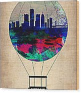 Detroit Air Balloon Wood Print