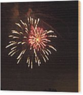 Detroit Area Fireworks -1 Wood Print