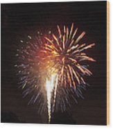 Detroit Area Fireworks -2 Wood Print