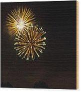 Detroit Area Fireworks -3 Wood Print
