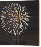 Detroit Area Fireworks -4 Wood Print