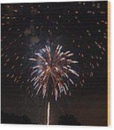 Detroit Area Fireworks -5 Wood Print