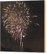 Detroit Area Fireworks -7 Wood Print