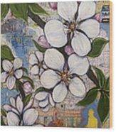 Detroit Blooms Wood Print by Andrea LaHue aka Random Act