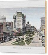 Detroit - Cadillac Square - 1905 Wood Print