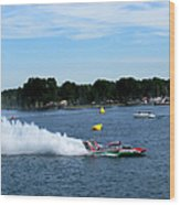 Detroit Hydroplane Race  Wood Print by Michael Rucker