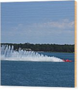 Detroit Hydroplane Races Wood Print by Michael Rucker