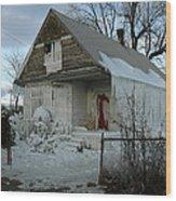 Detroit Ice House Wood Print