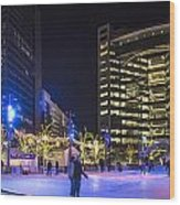 Detroit Ice Rink  Wood Print