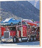 Iron Road Palm Springs Wood Print
