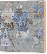 Detroit Lions Team Wood Print