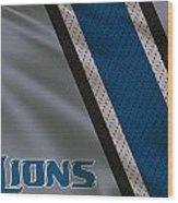 Detroit Lions Uniform Wood Print