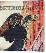 Detroit Lives Forever 2 Wood Print