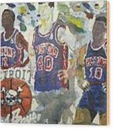 Detroit Pistons Bad Boys  Wood Print