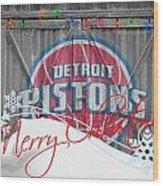 Detroit Pistons Wood Print