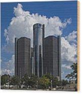 Detroit Renaissance Center Wood Print