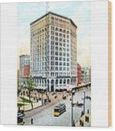 Detroit - The Majestic Building - Woodward Avenue - 1900 Wood Print