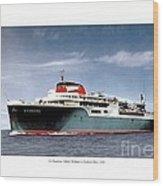 Detroit - The Ss Aquarama - Detroit To Cleveland - 1955 Wood Print